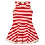 FUB Red and Ecru Stripe Dress