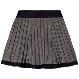 FUB Navy and Ecru Pleated Skirt