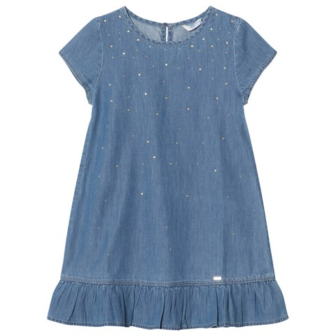 a1a7da39e23b Mayoral Blue Studded Denim Dress