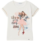 Mayoral White Ballet Girl Tee