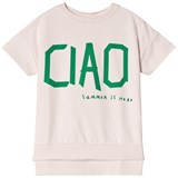 Beau Loves Chalk Blush Ciao Short Sleeved Square Sweater
