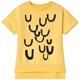 Beau Loves Yellow Upside Down Short Sleeved Square Sweater