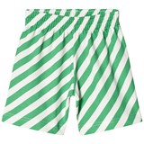 Beau Loves Green Diagonal Stripes Shorts