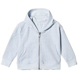 Tinycottons Light Blue Grid Hoodie