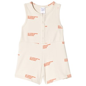 TINYCOTTONS   Tinycottons Stone Le Concierge Relaxed One-Piece 6 Years   Goxip