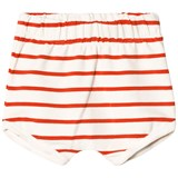 Tinycottons Off-White and Carmine Small Stripes Bloomers
