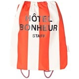 Tinycottons Off-White and Carmine Striped Beach Bag