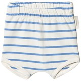 Tinycottons Off-White and Cerulean Blue Small Stripes Bloomer