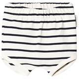 Tinycottons Off-White and Navy Small Stripes Bloomers