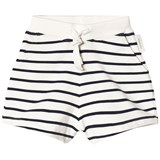 Tinycottons Off-White and Navy Small Stripes Shorts