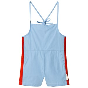 TINYCOTTONS | Tinycottons Light Cerulean Blue Carmine Short One-Piece 2 Years | Goxip