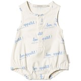 Tinycottons Off-White and Cerulean Blue Bon Appétit One-Piece