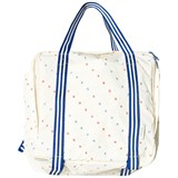 Tinycottons Off-White and Cerulean Blue Bonheur Backpack