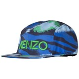 Kenzo Kids Navy and Blue Tiger Logo 5 Panel Cap