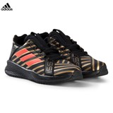 adidas Performance Black, Gold and Red RapidaTurf Messi Trainers