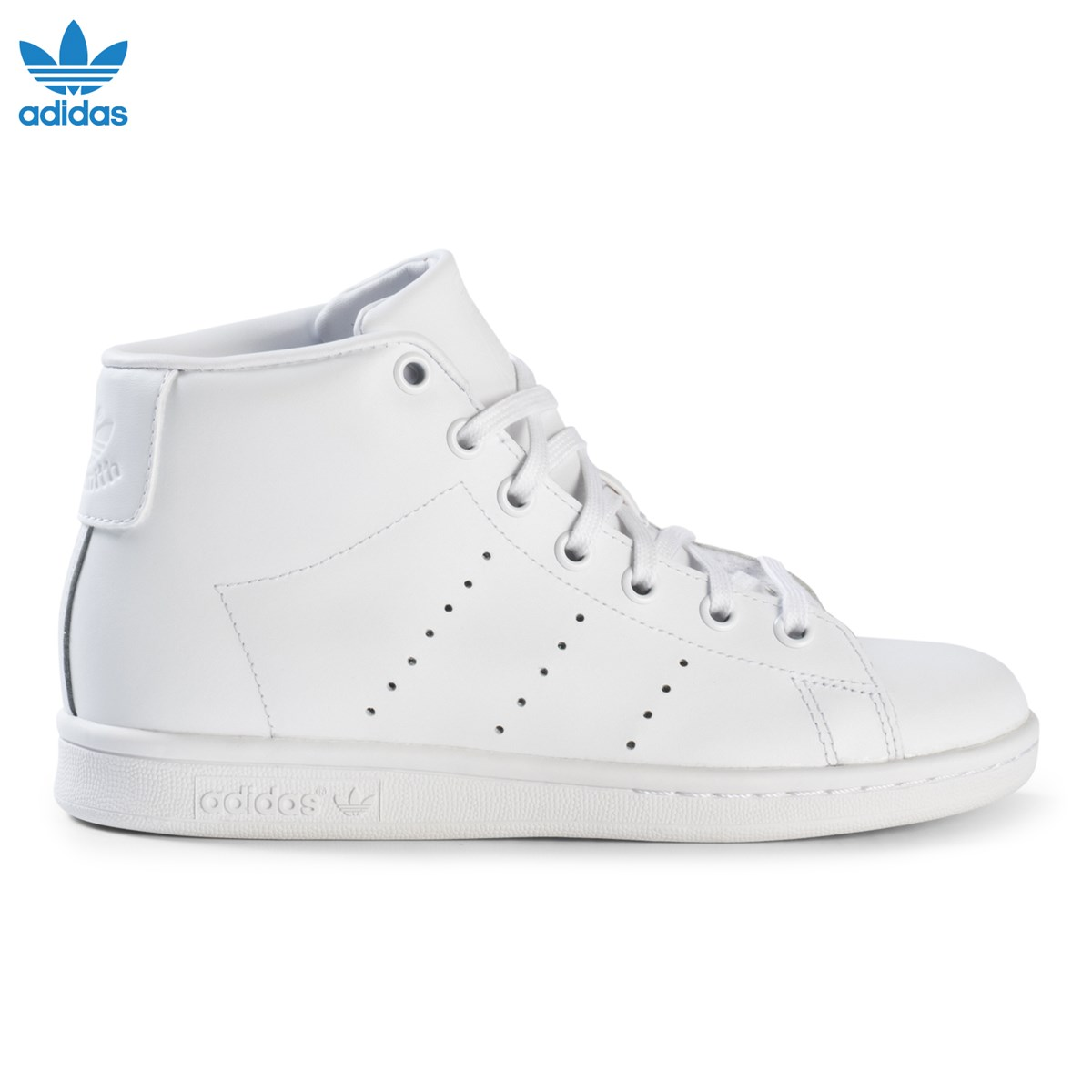 adidas Originals White Junior Stan Smith Hi Top Trainers  eda5a96f2
