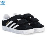 adidas Originals Black Gazelle Infants Velcro Trainers