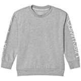 Calvin Klein Grey Branded Sleeves Sweater