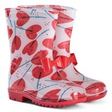 Catimini White Heart Lollypop Print Wellies