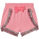 IKKS Pink Fringe Detail Shorts with Bow Detail