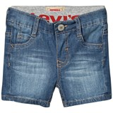 Levi's Blue Mid Wash 511 Pull Up Denim Shorts