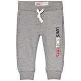 Levi's Grey Marl Logo Print Sweatpants