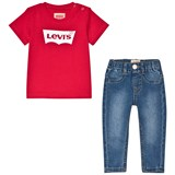 Levi's Red Batlog T-Shirt and Jeans Set