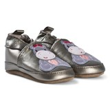 Melton Griffin Grey Hippo Leather Shoes