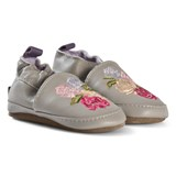 Melton Chateau Grey Floral Leather Shoes