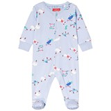 Joules Blue All Over Tortoise and Hare Print Babygrow