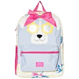Joules Stripe and Floral Dog Face with Glitter Sunglasses Backpack