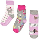 Joules Purple and Grey Character Socks Set