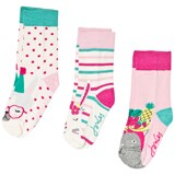 Joules Cream and Pink Party Animal Socks Set