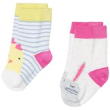 Joules Cream Stripe Bunny and Chick Socks Set