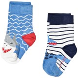 Joules Blue Shark Socks Set