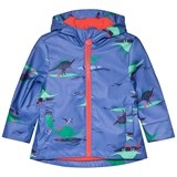 Joules Blue Dino Paddle Printed Rubber Raincoat