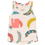 Indikidual Pale Yellow Multicoloured Banana Print Vest