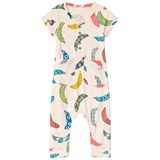 Indikidual Pale Yellow Multi Coloured Banana Print Jumpsuit
