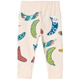 Indikidual Cream Multi Coloured Banana Print Leggings