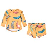 Indikidual Yellow Multi Bananas Print Sun Safe
