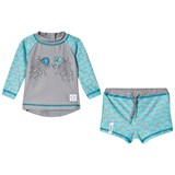 Indikidual Grey and Blue Jellyfish Print Sun Safe