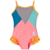 Indikidual Grey, Blue and Pink Panel Swimsuit