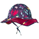 Catimini Navy Floral and Tropical Bird Print Sun Hat