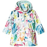Catimini White Tropical Floral Raincoat with Detachable Hood