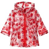 Catimini Red Heart Lollipop Print Transluscent Raincoat