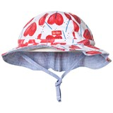 Catimini Red Lollipop Print Reversible Hat
