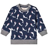 Catimini Navy Shark Print Sweatshirt