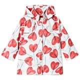 Catimini White Heart Lollipop Print Raincoat