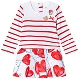 Catimini White Heart Lollipop and Stripe Dress