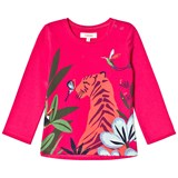 Catimini Pink Tropical Animal Print Long Sleeve T-Shirt